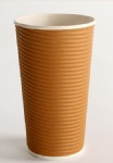 Chinese Supplier Customized Coffee Juice Ripple Wall Paper Tea Cup
